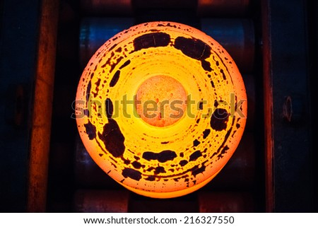 Wheel rolling mill - stock photo