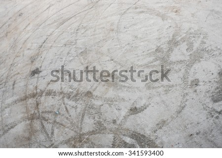 Wheel traces on sand - stock photo