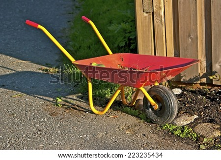 Wheelbarrow to be used for play and gardening work.