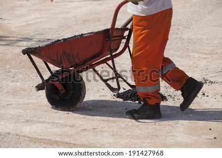 wheelbarrows - stock photo