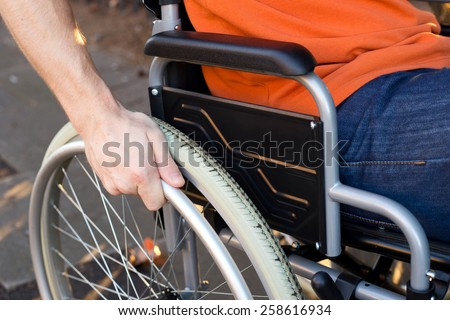 wheelchair - stock photo
