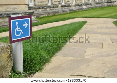 Wheelchair Access Ramp - stock photo