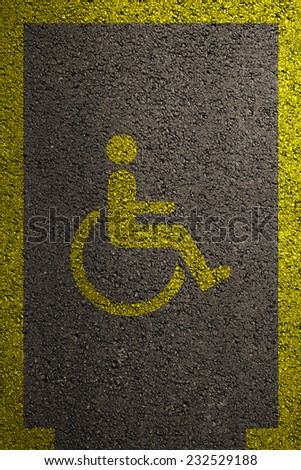 Wheelchair accessible parking space