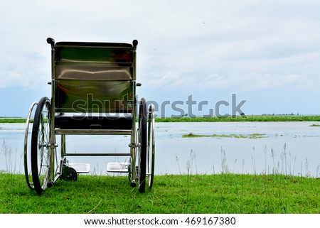 Wheelchair on nature