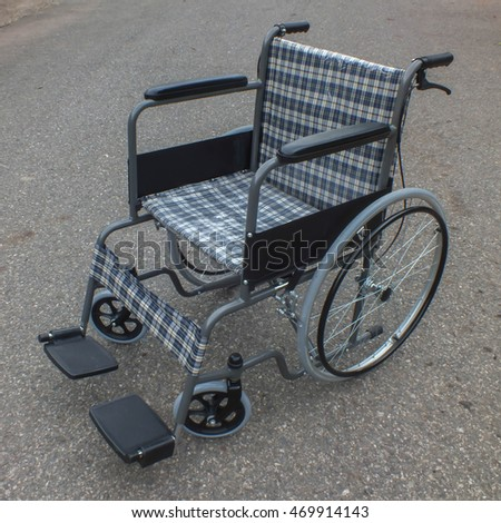 Wheelchair on road