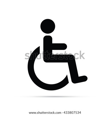 Wheelchair Symbol Icon.  Raster Version - stock photo