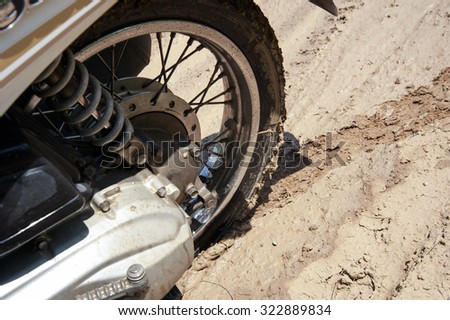 Wheeled Motorcycles with mud way