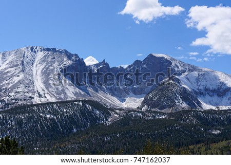 Wheeler Peak in Great Basin National Park, Baker, Nevada