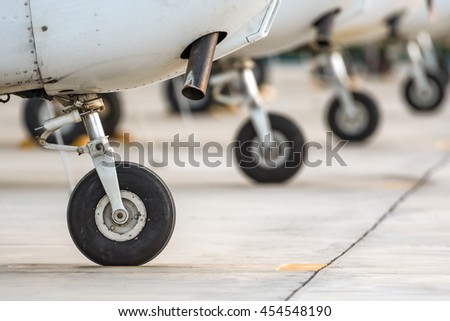 wheels of airplane