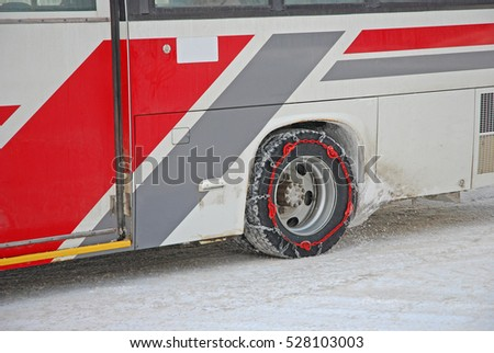 Wheels wrapped chain for snow ice road