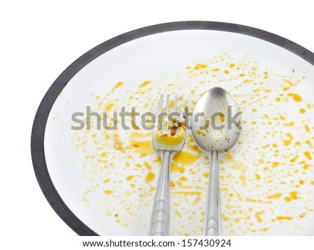 When finished eating thai food. - stock photo