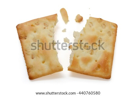 When the two halves of the oatmeal cookies - stock photo