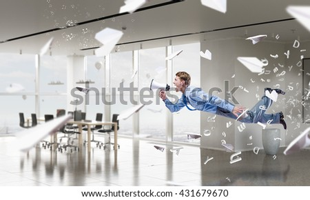 When tired of monotonous work - stock photo
