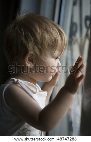 Where are you, Mom? - stock photo