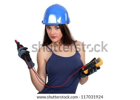 Where do I plug it in? - stock photo