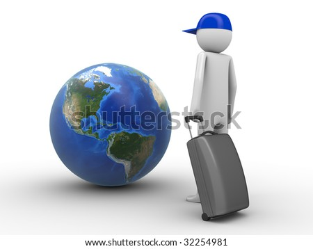 Where do you want to travel today? (Americas) - stock photo