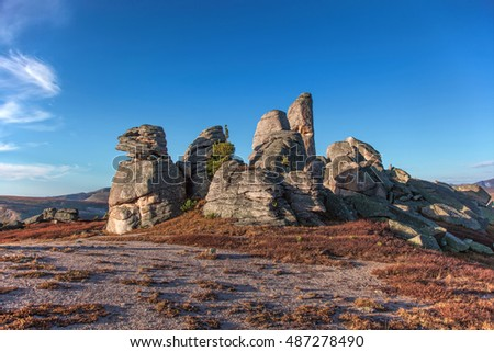 Whimsical rocks in the Altai's mountains