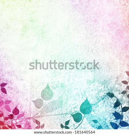Whimsy multicolored floral scenery  - stock photo