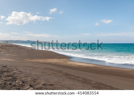 Whirinaki beach reserve and Pacific Ocean in Hawkes Bay New Zealand