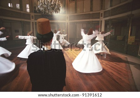 Whirling derwishes - stock photo