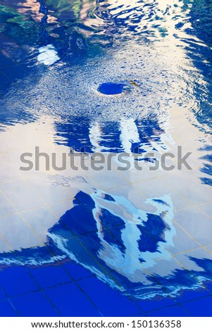 whirlpool in the pool house with reflection - stock photo