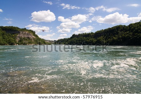 Whirlpool on Niagara river - overhead aerial cable car