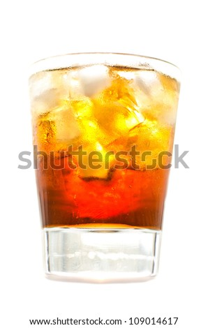 whiskey and cola and ice