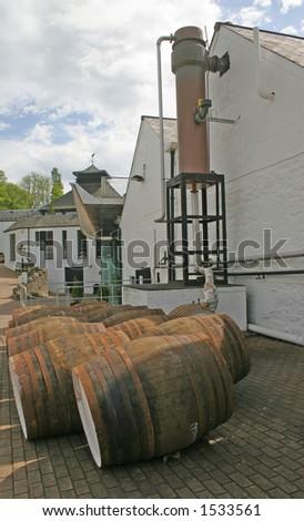 Whiskey Distillery in Scotland UK - stock photo