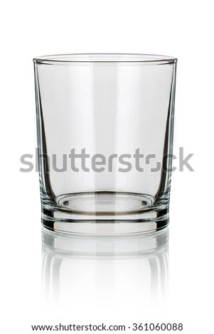 Whiskey glass isolated