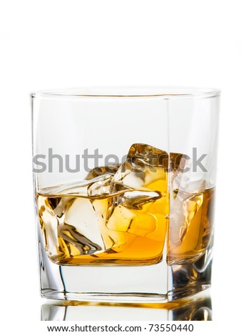 whiskey on the rocks, warming and relaxing