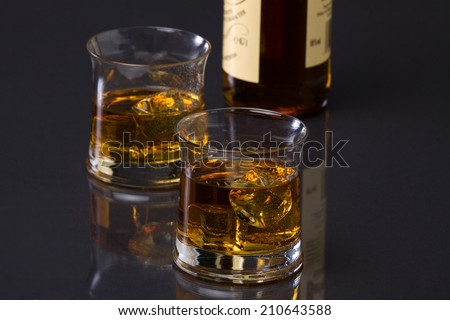 Whisky and bottle