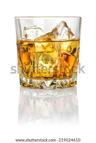 Whisky on the rocks  - stock photo