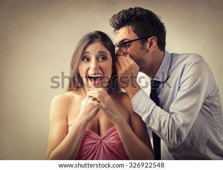 Whispering secrets - stock photo