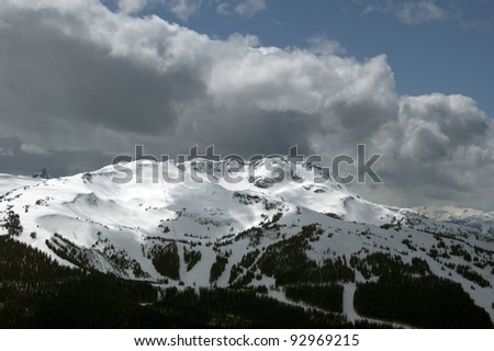 Whistler Mountain covered by snow