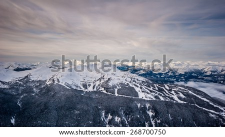 Whistler Mountain landscape in winter - stock photo