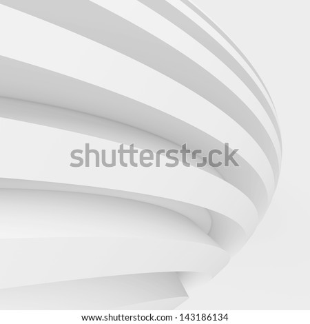 White Abstract Architecture Background - stock photo