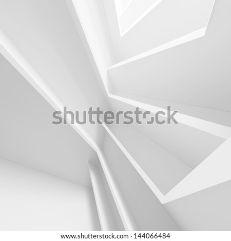 White Abstract Architecture Design - stock photo