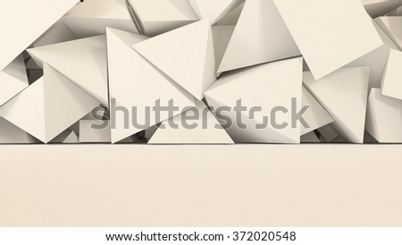 White abstract 3d background with room, floor and wall