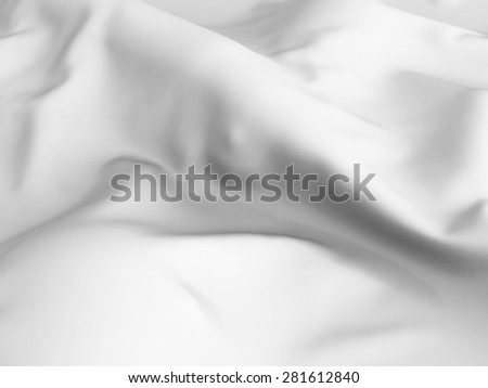 White Abstract Satin Cloth Background. 3d Render Illustration