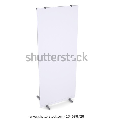 White advertising billboard. Isolated render on a white background - stock photo