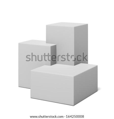 White advertising showcase   - stock photo