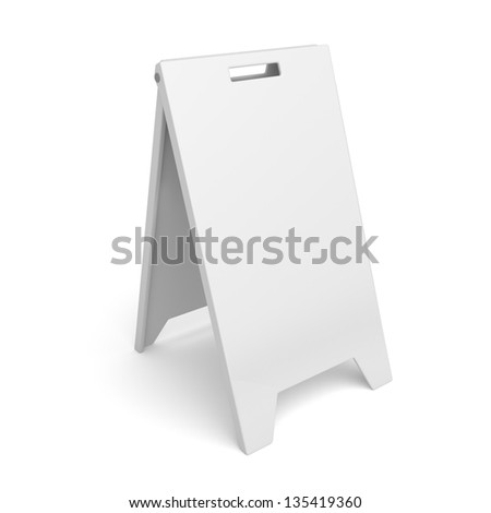 White advertising stand on white background - stock photo