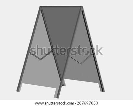 white advertising stand.on white background - stock photo