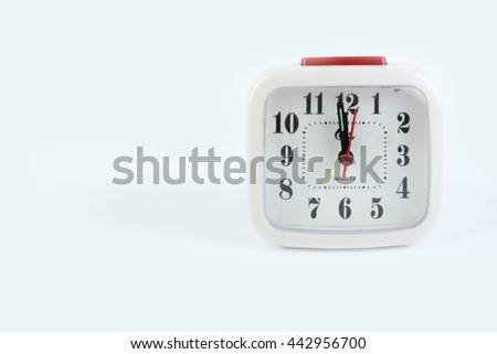 White alarm clock - stock photo