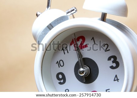 White analog clock - stock photo