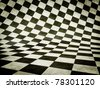 white and black cube background. 2D  illustration. - stock photo