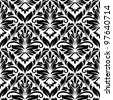 White and black seamless pattern for background or textile design. Vector version also available in gallery - stock vector