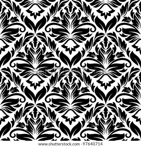 White and black seamless pattern for background or textile design. Vector version also available in gallery - stock photo