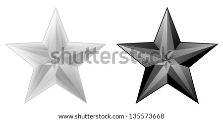 white and black stars with few light gradients