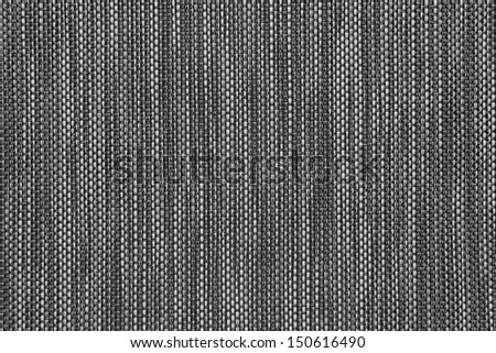 white and black woven background or texture - stock photo